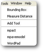 Fig. 8 Add tools feature showing that the Mpact, MpaveModel, and WordPad have been added
